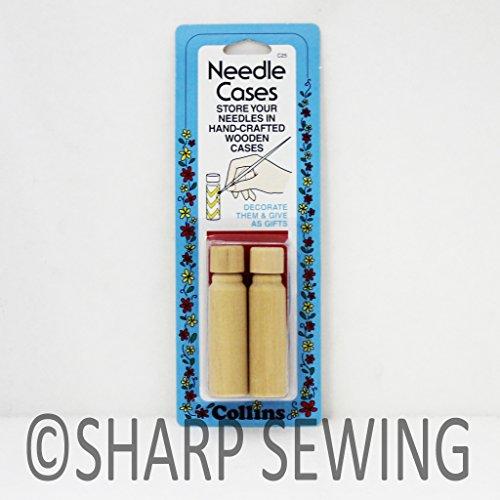 Collins Wooden Needle Case - 2/Pkg
