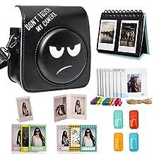 Woodmin Black 8-in-1 Accessories Bundle for Fujifilm Instax Mini 70 Camera (Mini 70 case/ Calendar Albums/ Frames/ Film Stickers/ Filters)