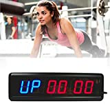Timer Larger LED Digital Wall Clock w Remote Training Hiit CrossFit Fitness Interval Best for Gym / Boxing / Running / Kettlebells Cardio and Tabatha workouts / Modern Design Home Decor