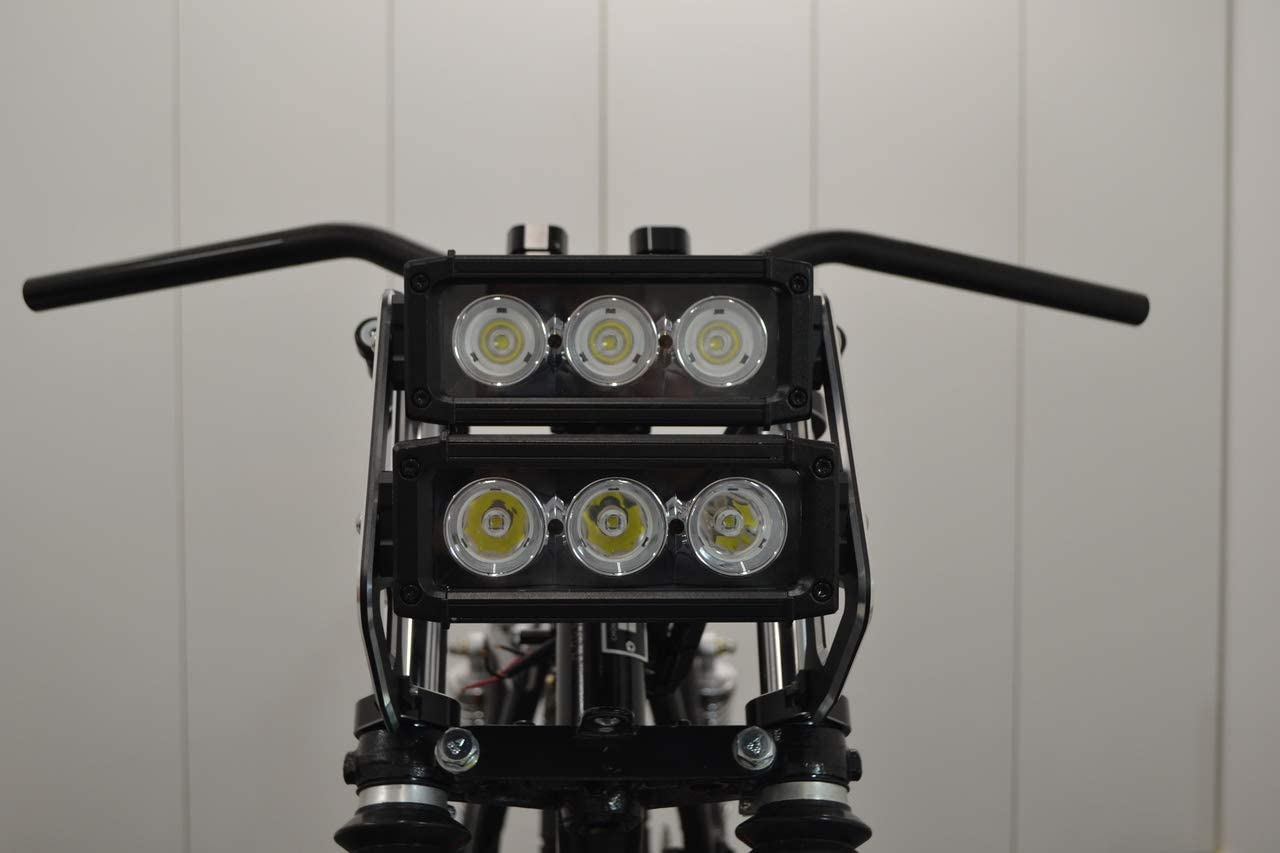 LED Light Bar Dual Stacked For Streetfighter Project Motorbike Headlight 40-41mm