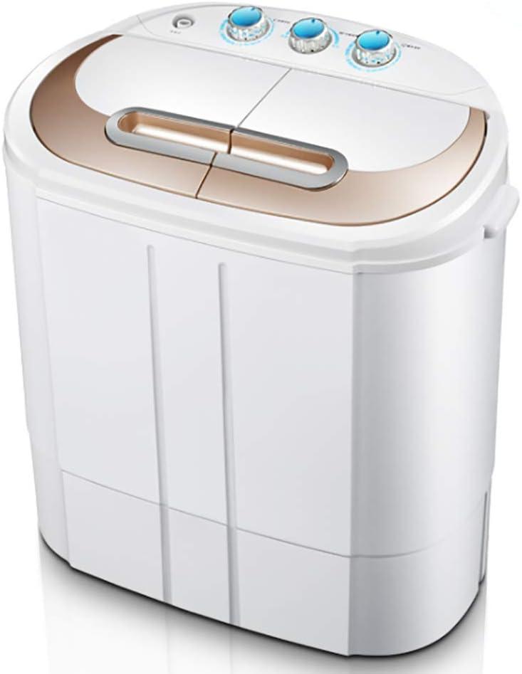 Kücheks Lavadora portátil - Lavado y Secado 2 Modos, Lavadora compacta semiautomática Secadora de Centrifugado Motor Doble Silenciador de Ahorro de energía 2.6 kg Lavado + 2 kg de Secado
