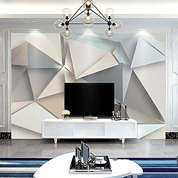 El nuevo televisor de papel tapiz de pared para la oficina del minimalista moderno, geométricas murales empapelado de 350cm x 245cm de salón.: Amazon.es: Bricolaje y herramientas