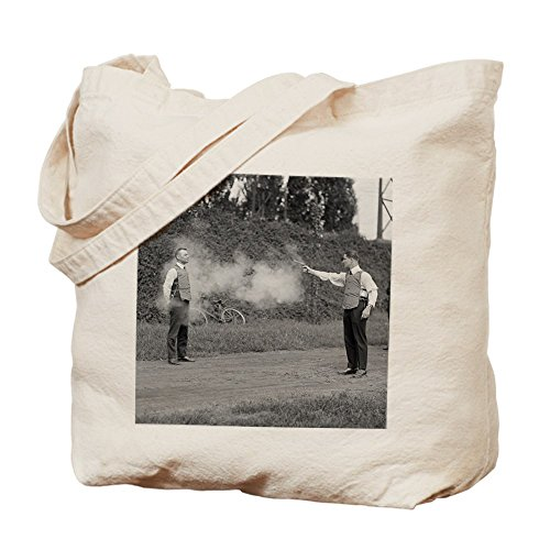 CafePress - Testing Bulletproof Vest - Natural Canvas Tote Bag, Cloth Shopping Bag (Police Vest Bulletproof)