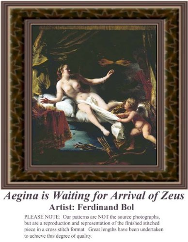 Aegina is Waiting for Arrival of Zeus, Fine Art Counted Cross Stitch Pattern (Pattern Only, You Provide the Floss and Fabric) from Sunrays Creations