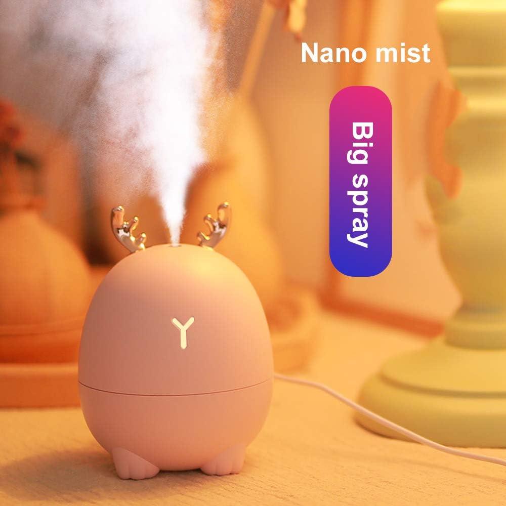 White/&Rabbit Decdeal Mini Humidificador de Difusor de Aceite Esencial Aromaterapia Hogar Humidificador Ultras/ónico Difusores USB
