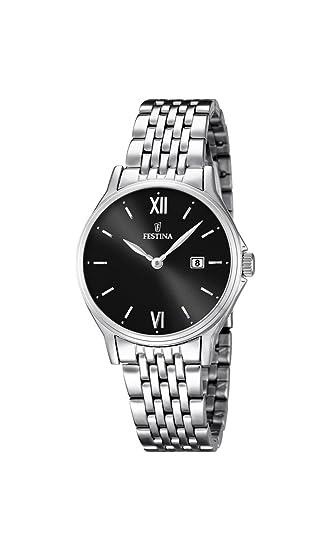 Festina 0 - Reloj de cuarzo para mujer, con correa de acero inoxidable, color plateado: Amazon.es: Relojes