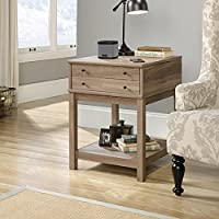 Sauder Barrister Lane Smart Centr Side Table in Salt Oak