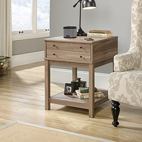 Night And Day Furniture End Table - Sauder 422268 Barister Lane Smart Centr Side Table, Salt Oak Finish