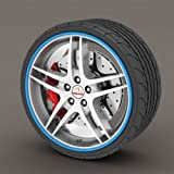 Kabis Car Rimblades Blue Color Alloy Wheel Rim Protector Tyres Tire Guard Rubber Moulding