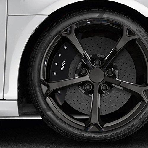 Matte Black Bolt-on Rear MGP Caliper Covers for 2010-2013 Range Rover Sport HSE