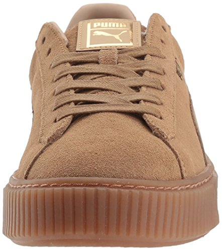 Puma Dames Suede Platform Kern Mode Sneaker Havermeel-whisper Wit