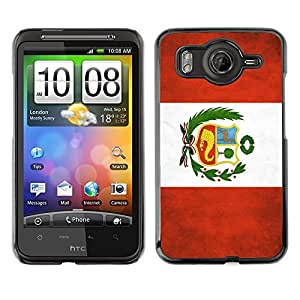 Shell-Star ( National Flag Series-Peru ) Snap On Hard Protective Case For HTC Desire HD / Inspire 4G