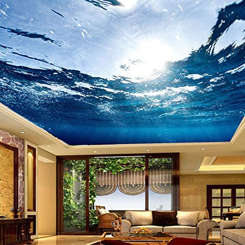 3d Mural Wallpaper Underwater World Suspended Ceiling Fresco Living Room Bedroom Ceiling Wall Papers Home Decor 170 X 110 430 X 280 Cm Amazon Com