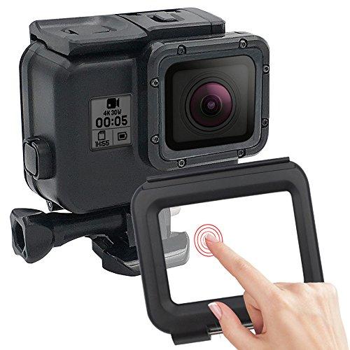 Para Cámara De Acción GoPro Hero 5 Hero 6 accesorios 60 metros Funda impermeable Vivienda de buceo con Touchable Puerta...