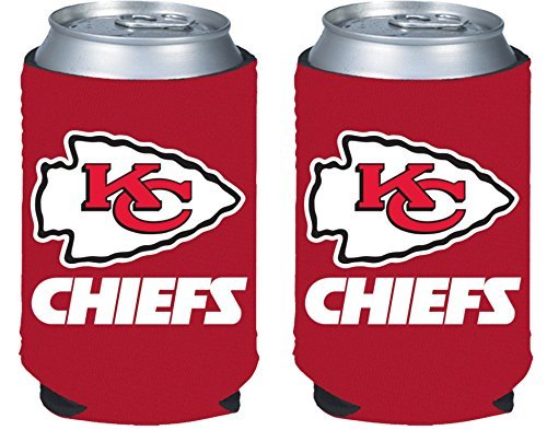 NFL Football 2014 Team Color Logo Can Kaddy Holder Cooler 2-Pack (Kansas City Chiefs)