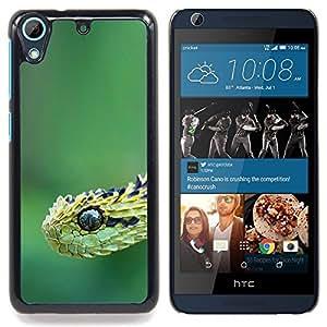 """Serpiente Verde"""" - Metal de aluminio y de plástico duro Caja del teléfono - Negro - HTC Desire 626 626w 626d 626g 626G dual sim"""