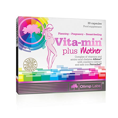 VITA-MIN Plus Mama - 30 Capsules - OLIMP LABS - for The Health of Mother and Child.