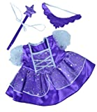 Purple Fairy Princess Dress w/Wand Teddy Bear Clothes Outfit Fits Most 14