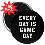 CafePress - Every Day Is Game Day - 2.25'' Magnet (100 pack)
