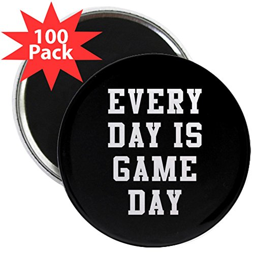 CafePress - Every Day Is Game Day - 2.25'' Magnet (100 pack) by CafePress