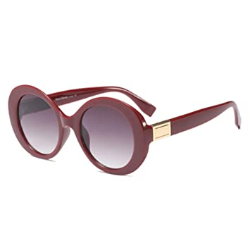 KCJKXC Gafas De Sol Redondas para Mujer De Marca para Hombre ...