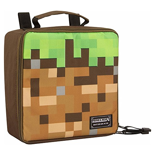 JINX Minecraft Dirt Block Insulated Kids School Lunch Box for Boys, Girls, Kids, Adult by JINX
