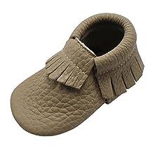 Mejale Baby Shoes Soft Soled Leather Moccasins Infant Toddler Crib Prewalker