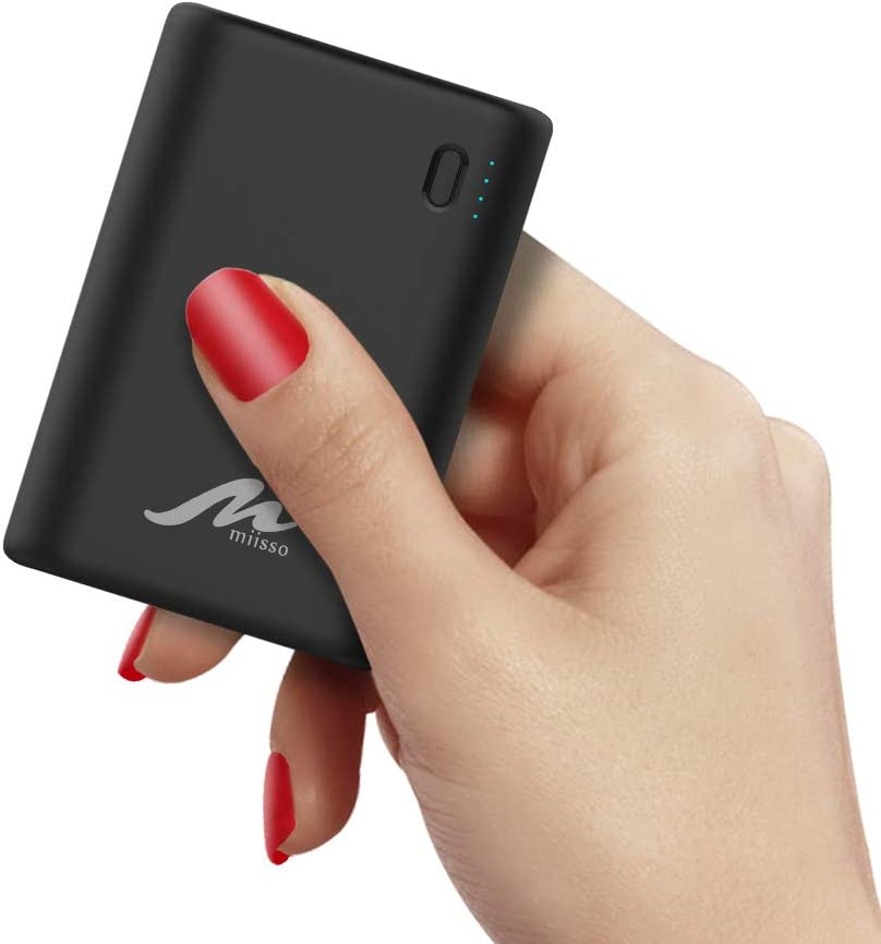External Portable Battery Charger for Cell Phone, 10000mAh 10Kmah-USB C-Black