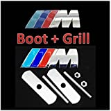 Quality New BMW Grill and Boot SET M-Tech Power Sport Badge Emblem 1 3 5 6 7