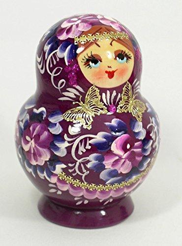 Russian Nesting Doll #3574 BURGUNDY 10 pcs