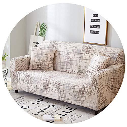 Pocket shop-Slipcovers Spandex Sofa Cover Stretch Geometric Sofa Armchairs Sectional Sofa Towel Couch Cover for Living Room 1Pc,Color 22,3-Seater 190-230Cm