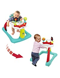 Kolcraft Tiny Steps 2-in-1 Activity Walker -Seated or Walk-Behind Position, Easy to Fold, Adjustable Seat Height, Fun Toys & Activities for Baby, Jubliee BOBEBE Online Baby Store From New York to Miami and Los Angeles