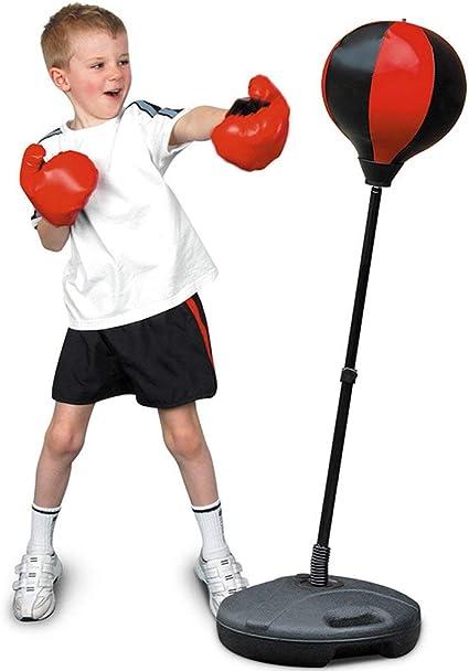 Hauteur r/églable Tech Tools Sac de Frappe pour Enfants Set de Boxe avec Support Gants de Boxe Inclus Excellent Exercice et activit/é Amusante pour Les Enfants
