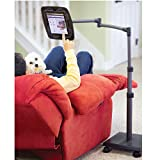 LEVO Deluxe iPad Floor Stand for all iPads Galaxy Nexus Xoom Surface Miix Nook Fire and Other Tablets and eReaders Gunmetal Color - G2