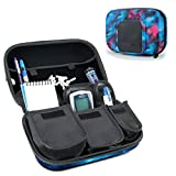 USA Gear Diabetic Supplies Travel Case Organizer for Blood Glucose Monitoring Systems, Syringes, Pens, Insulin Vials & Lancets - ACCU-CHEK Nano, Bayer Contour, TRUEtest & More Kits - Galaxy