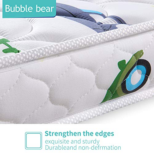 51z7WY4gw%2BL - 【2020 Kids' Favorites】 Bubble Bear Foam Crib Mattress And Toddler Mattress -Comfortable And Breathable & Solid Safety Edge & Size:52X27.6X5(Cute Car)
