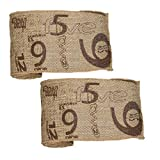Vintage Numeral Pattern Burlap