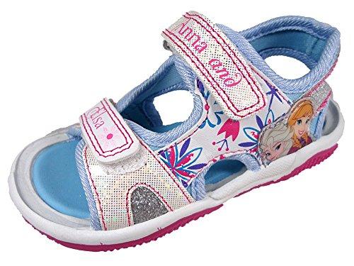 Disney Frozen Blue & White Sport Sandals Kids Sizes 6 To 12