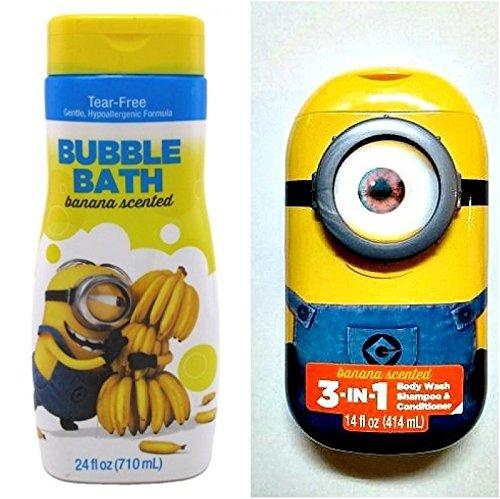 Mzb Bubble (Despicable Me 3-in-1 Bodywash Shampoo & Conditioner + Minions Bubble Bath Banana Scented 24oz)