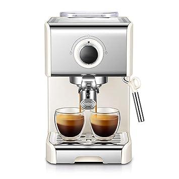 Xiuyun 1250 W Máquina de café Italiana Semiautomática Italiana Leche de Vapor Espuma Electromagnética Bomba Protección de Fugas (Color : Negro, ...
