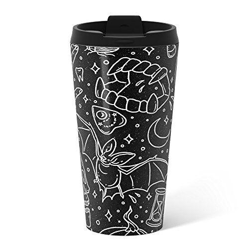[Society6 Halloween Horrors Metal Travel Mug 15 oz] (Sci Fi Halloween)