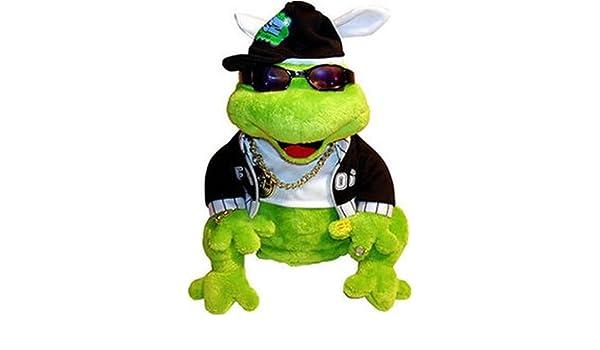 Amazon.com: Gemmy Frogz Rock It Rap It Ribbit Hip Hop Plush ...