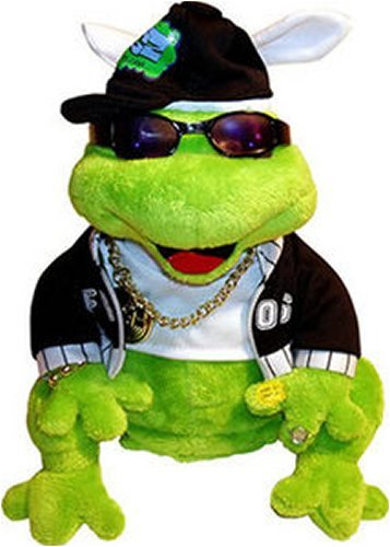 Gemmy Frogz Rock It Rap It Ribbit Hip Hop Plush Frog Moves and Plays in Da Club