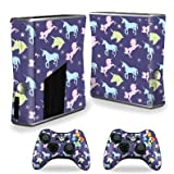 MightySkins Skin For Xbox 360 S Slim + 2 controllers – Unicorn Dream Protective, Durable, and Unique Vinyl Decal wrap cover | Easy To Apply, Remove, and Change Styles | Made in the USA