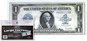 10 Bundle 11X5.5cm Currency Sleeves Holders Banknotes Bills Collections pouch 1#