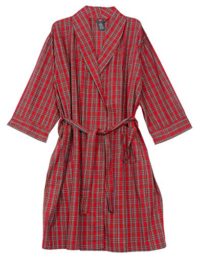 - Hanes Big and Tall Light Weight Plaid Robe (Red 1X/2X)