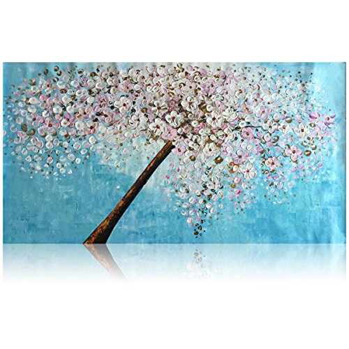 KGTECH Thick Textured Acrylic Paintings 3D Floral Wall, used for sale  Delivered anywhere in Canada