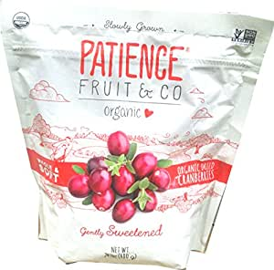 Patience Fruit and Co. Organic Whole Cranberries, 24-ounce