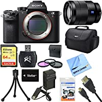 Sony a7R II Full-frame Mirrorless Interchangeable 42.4MP Camera 24-70mm Lens Bundle includes a7R II Camera, Vario-Tessar 24-70mm Full Frame Lens, 67mm Filter Kit, 64GB Memory Card, Bag and much more!