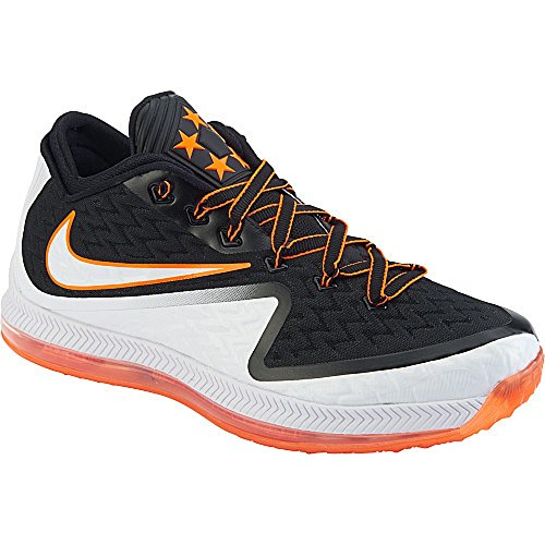 Nike Mens Field General 2 Football Training Shoes White/Black/Orange 749310-108 (8.5 M US, White/Black-Total Orange)